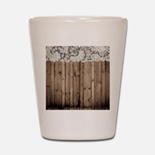 barnwood white lace country Shot Glass