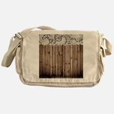 barnwood white lace country Messenger Bag