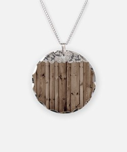 barnwood white lace country Necklace