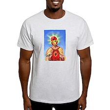 Jesus Da La Lucha Libre Ash Grey T-Shirt