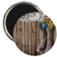 cowboy boots barnwood country Magnet
