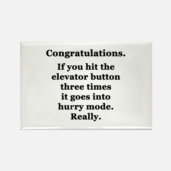 Congratulations. Rectangle Magnet