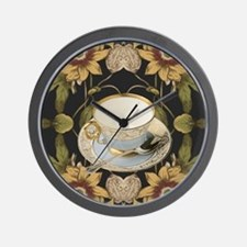 floral tea cup vintage  Wall Clock