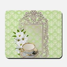 daisy tea cup vintage Mousepad