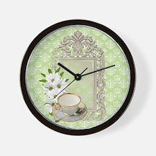 daisy tea cup vintage Wall Clock