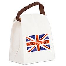 221B union jack Canvas Lunch Bag