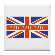 221B union jack Tile Coaster