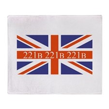 221B union jack Throw Blanket
