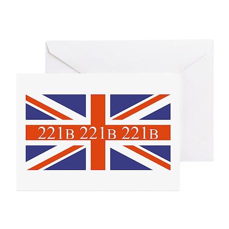 221B union jack Greeting Cards