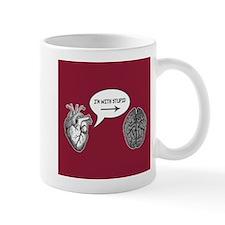 Im With Stupid (Heart to Brain) Mug