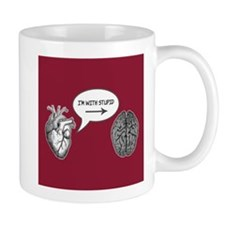 Im With Stupid (Heart to Brain) Mug