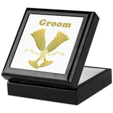 Champagne Groom Keepsake Box