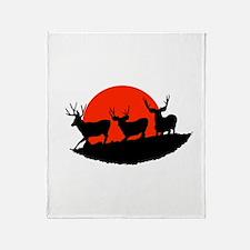 Shadow bucks Throw Blanket