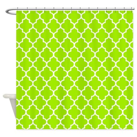 Lime Green Quatrefoil Shower Curtain By Inspirationzstore