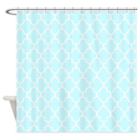 blue gifts blue bathroom d cor baby blue quatrefoil shower curtain