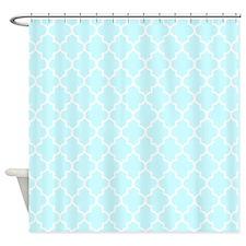 Baby Blue Quatrefoil Shower Curtain