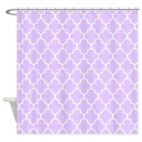 Lilac Purple Quatrefoil Shower Curtain By InspirationzStore