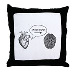 Im With Stupid (Heart to Brain) Throw Pillow