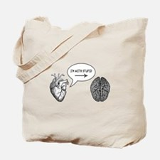 Im With Stupid (Heart to Brain) Tote Bag