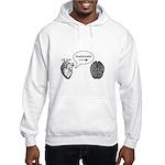 Im With Stupid (Heart to Brain) Hooded Sweatshirt