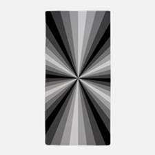 Black Illusion Beach Towel