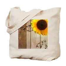 sunflower barnwood country Tote Bag