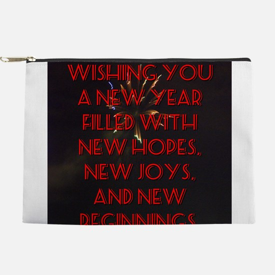 Wishing You A New Year Makeup Pouch