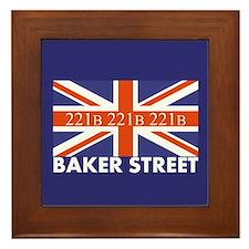 221B Union Jack Framed Tile
