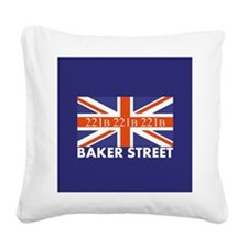221B Union Jack Square Canvas Pillow