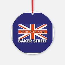 221B Union Jack Ornament (Round)