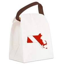 Massachusetts Diver Canvas Lunch Bag