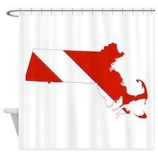 Massachusetts Diver Shower Curtain