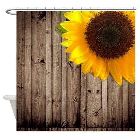 Sunflower Shower Curtain Rings