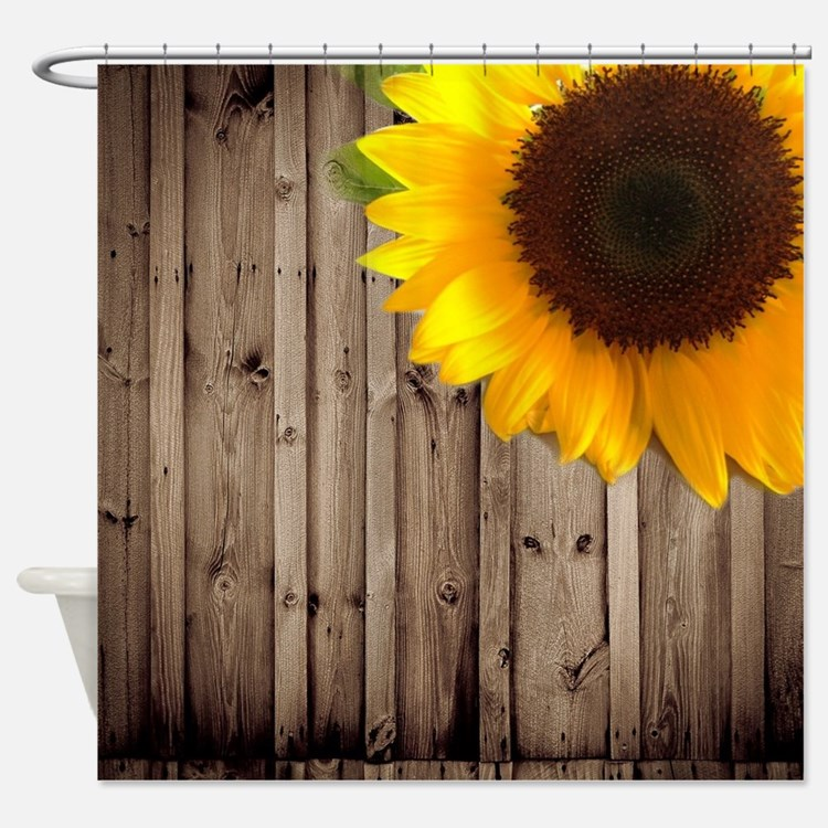 Country Sunflowers Shower Curtains Country Sunflowers