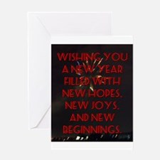 Wishing You A New Year Greeting Card
