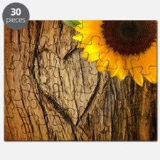 sunflower heart country Puzzle