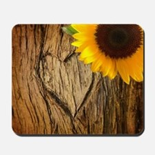 sunflower heart country Mousepad