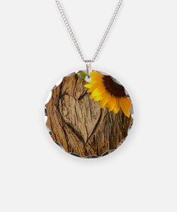 sunflower heart country Necklace