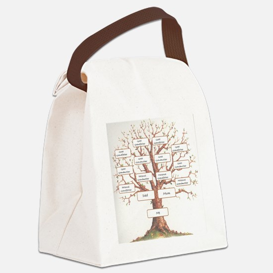 Ancestor Tree Canvas Lunch Bag