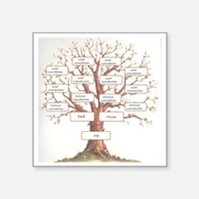 "Ancestor Tree Square Sticker 3"" x 3"""