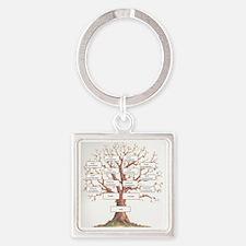 Ancestor Tree Square Keychain