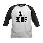 Civil Engineer Kids Baseball Jersey