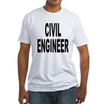 Civil Engineer (Front) Fitted T-Shirt