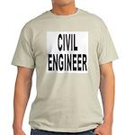 Civil Engineer (Front) Ash Grey T-Shirt