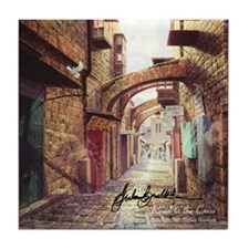 """Road to the Cross"" Fine Art Tile Coaster"