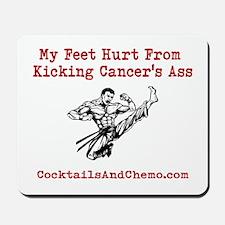 Kicking Cancers Ass Mousepad