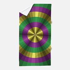 Mardi Gras Illusion Beach Towel
