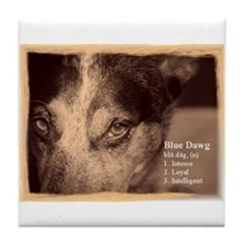 Blue Dawg Tile Coaster
