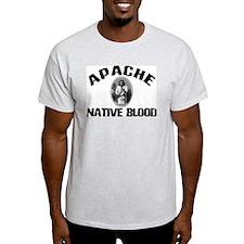Apache Native Blood Ash Grey T-Shirt