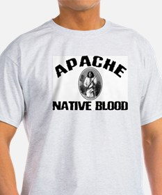 Apache Native Blood Ash Grey T-Shirt